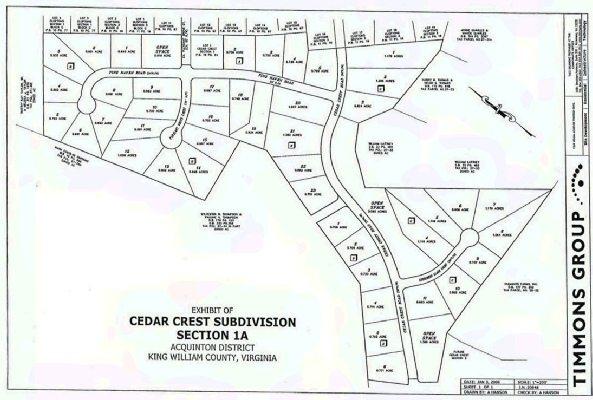 Plat of Cedar Crest - Balducci Realty